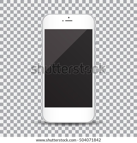 Smartphone Blank Screen On Transparent Background Stock Vector