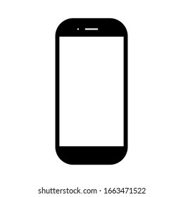 smartphone with blank white screen isolated on white background. vector illustration