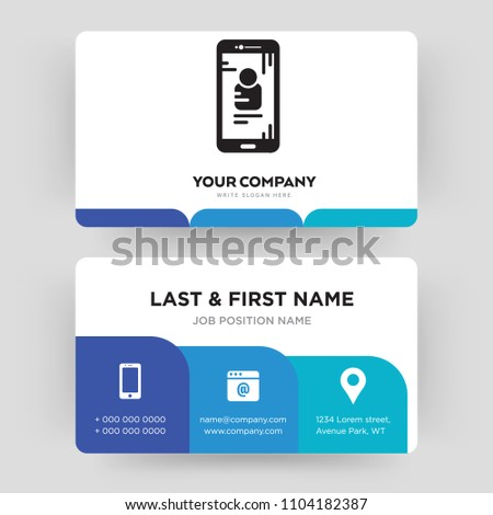 Smartphone Business Card Design Template Visiting For Your Company Modern Creative And Clean