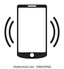 Smartphone call vector icon