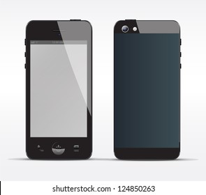 Smartphone concept front and Back