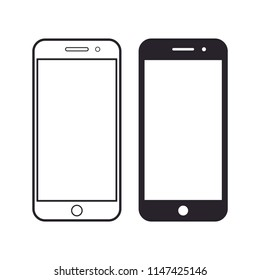 smartphone concept style icon vector. blank screen smartphone round menu