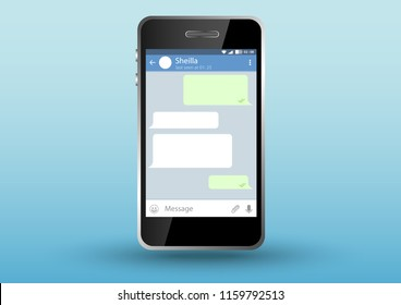 smartphone design with user interface template mobile app