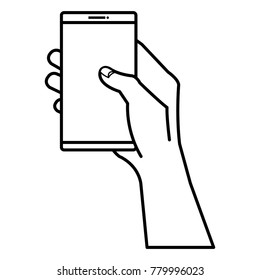 smartphone device with hand human