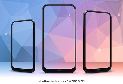 Smartphone From Different Angles with Transparent Screens