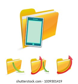 smartphone with file folder