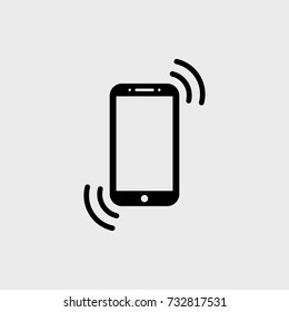 Smartphone flat vector icon. Phone flat vector icon