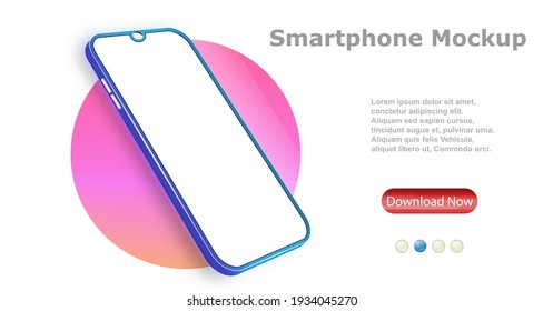 Smartphone frame with blank screen. The layout of the universal device. Vector design, realistic, smartphone template. Telephone frame.