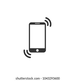 Smartphone icon. Flat design. Phone connection sign. Vector illustration.