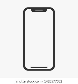 Smartphone icon flat style isolated on white background. Vector illustration