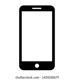 Smartphone icon in flat style. Mobile phone symbol for your web site design, logo, app, UI Vector