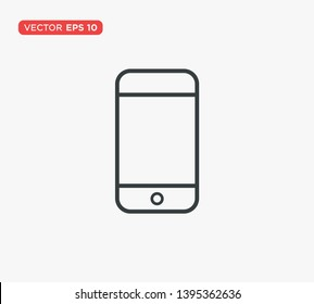 Smartphone Icon Flat Vector Illustration