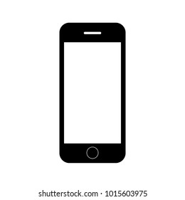 Smartphone icon in iphone style. Cellphone pictogram isolated on white background. Telephone symbol