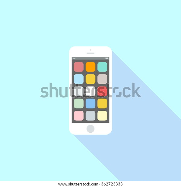 Smartphone Icon Iphone Style Cellphone Pictogram Stock Vector