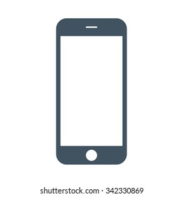 smartphone icon in iphone style on the white background. stock vector illustration eps10