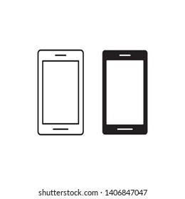 smartphone icon logo vector design template