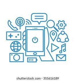 smartphone icon set, vector