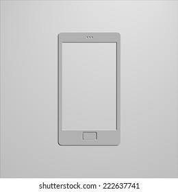 Smartphone icon. vector eps10 illustration, background