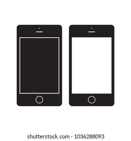 Smartphone icon Vector Illustration. Mobile Flat Sign. isolated on White Background.