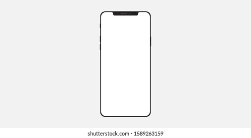 Smartphone icon, vector illustration. Mobile phone smartphone icon illustration.