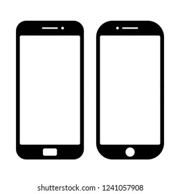smartphone icon vector on white background