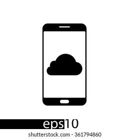 Smartphone icon,vector illustration.