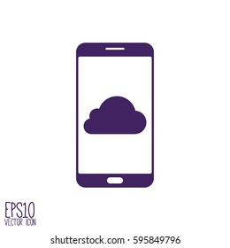 Smartphone icon,vector illustration. Flat style for graphic and web design, Modern simple vector sign. Internet concept. Trendy symbol for website design web button, mobile app.