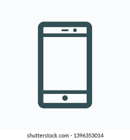 Smartphone isolated icon, mobile phone outline vector icon