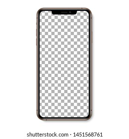 Smartphone isolated. Smartphone, mobile phone. Realistic vector illustration.