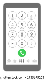 smartphone keypad number buttons icon set