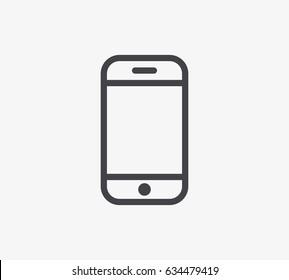 Smartphone Line Icon. Editable Stroke.