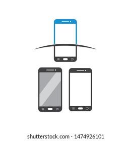 smartphone logo icon vector illustration design template