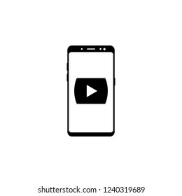 smartphone media player vector icon for websites and mobile minimalistic flat design
