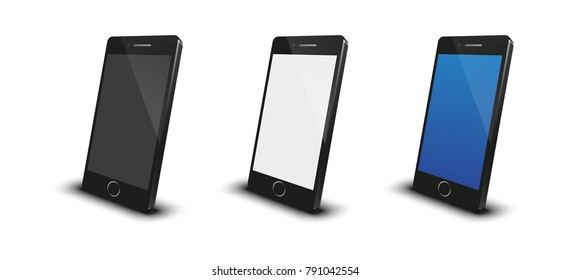 Smartphone mobile blank screen vectors illustration