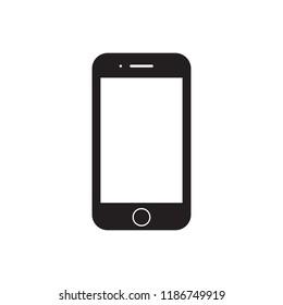 Smartphone, mobile icon. Flat design. Vector Illustration.