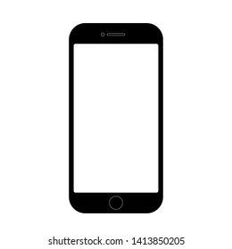 Smartphone, mobile phone, iPhone on white background icon-vector