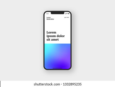 Smartphone, mobile phone. Mockup to showcasing mobile web-site design or screenshots your applications. Vector illustration.