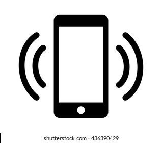 Smartphone / mobile phone ringing or vibrating flat vector icon for apps and websites