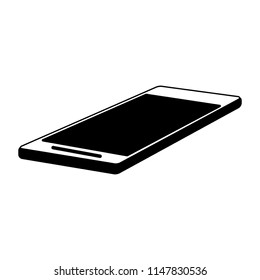 Smartphone mobile technology in black and white