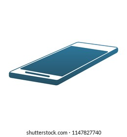 Smartphone mobile technology blue lines