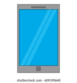 smartphone mobile technology blue screen