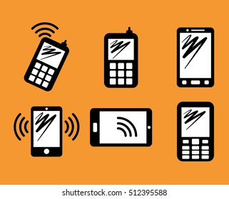 Smartphone mobile technology icon vector illustration graphic design