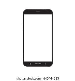 Smartphone mockup with blank screen vector