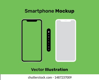 Smartphone mockup vector illustration. iOS and Android phone mockup. Premium quality.