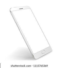 Smartphone mockup white color