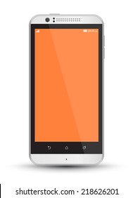 Smartphone mockups vector realistic style. Can use for printing, website, apps element. background for application mockups.