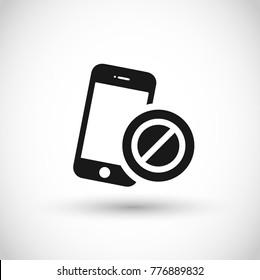 Smartphone offline vector icon