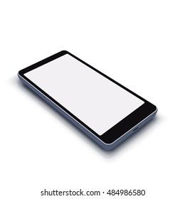 smartphone on white