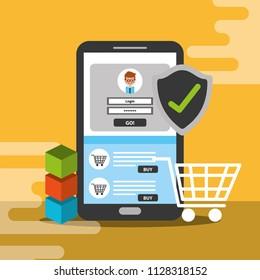 smartphone online shopping trade blockchain