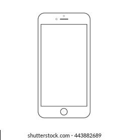 Smartphone outline  icon.Vector illustration